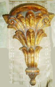 Vintage Majestic Large Antique Gold Wall Sconce Shelf