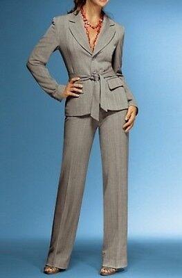 2tlg. Hosenanzug Set Vivien Caron NEU Gr.36 Grau Blazer Hose Business Stretch
