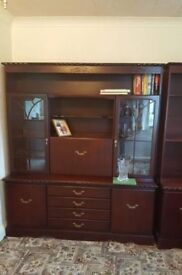2 Stunning Mahogany Top Quality Wall units £75 for both