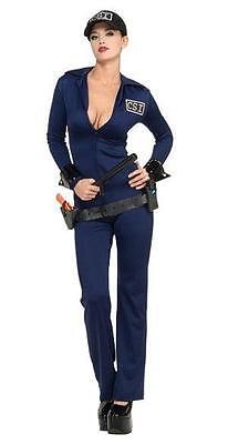 Naughty Criminal Investigator Officer Felony Sexy Adult CSI Costume Medium 10-12 - Officer Naughty Costume