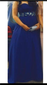 Royal blue PROM DRESS size 14