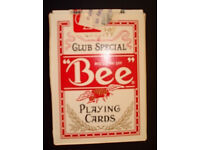 Club Special Casino Playing Cards - Bee Cambric Finish / plastic coated