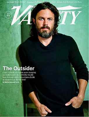 VARIETY Magazine Oct 18, 2016 CASEY AFFLECK Ron Howard, Dark Future Black MIrror