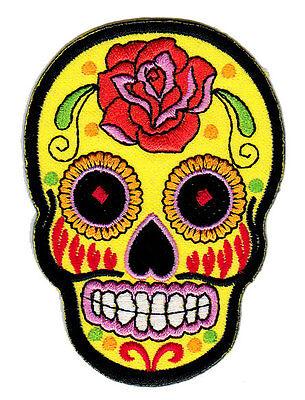 too Tag der Toten Mexiko Aufnäher Bügelbild Totenkopf Patch (Tag Der Toten Tattoo)