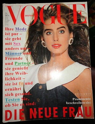 Vtg Vogue Deutsch 4/1988 Christy Turlington Donna Karan Elaine Irwin Irving Penn