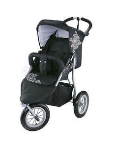 Knorr Baby Joggy S Dreirad Sportwagen schwarz weiß Buggy Kinderwagen Kind