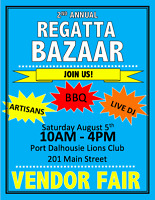 Second Annual Regatta Bazar - August 5th