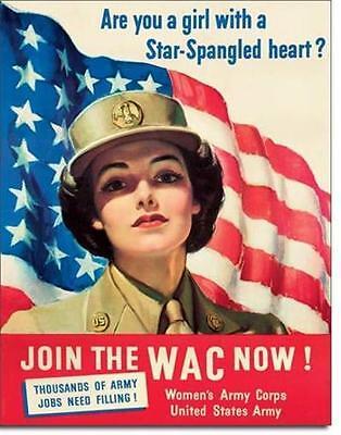 WAC Womens USA Army Corps Vintage Style Metall Deko Schild