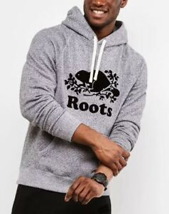 Roots Salt and Pepper Original Kanga Hoodie - Size Small