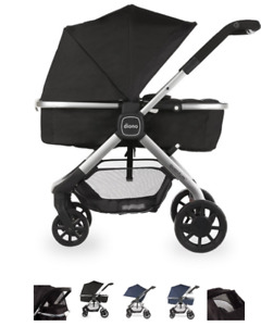 Diono Quantum 6 in 1 Stroller, Brand New in Box (black)