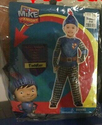 Nick New Girl Halloween Costume (Mike the Knight Halloween Costume toddler 3/4 Child Nickelodeon Nick)