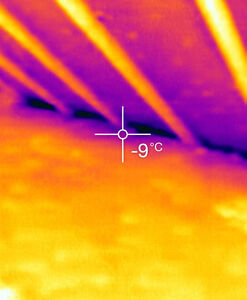 Condensation:Thermo-imaging. Roof leaks: skylight,chimney,