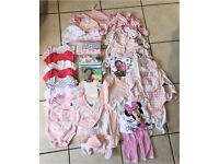 3 X Boxes and 2 X Bags of Baby Girls Clothes