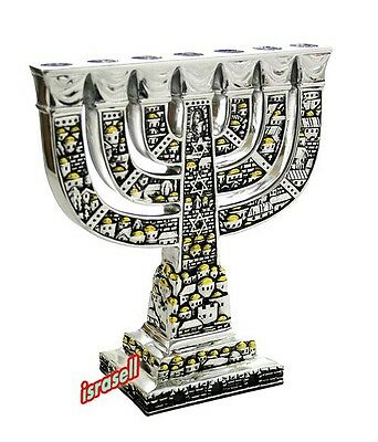 TRADITIONAL JEWISH MENORAH - Temple - Lamp Judaism - Judaica Gift](Menorah Tradition)
