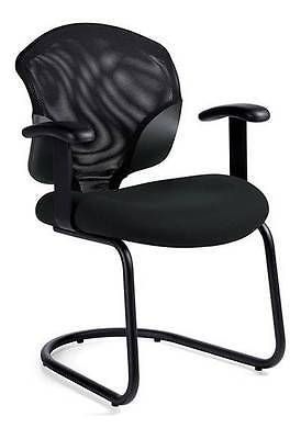 Global Tye 1953 Mesh Fabric Guest Chair With Arms