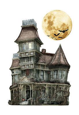 Haunted House Halloween 3D Scrapbook sticker Skeleton Bat  Paper House Moon  - Halloween Skeleton Paper Crafts