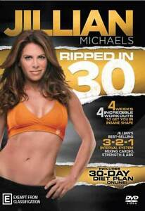 Jillian Michaels: Ripped In 30! * NEW DVD * 30 Day diet + exercise plan shape