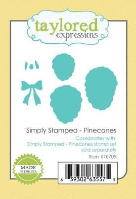 - TAYLORED EXPRESSIONS   Simply Stamped - Pinecones  Dies  TE709