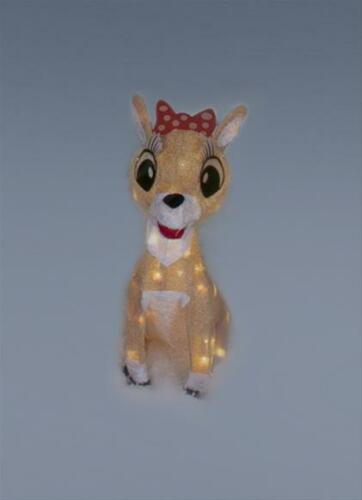 """18"""" Clarice 2-D Tinsel Light Display Christmas Outdoor Decoration NEW"""