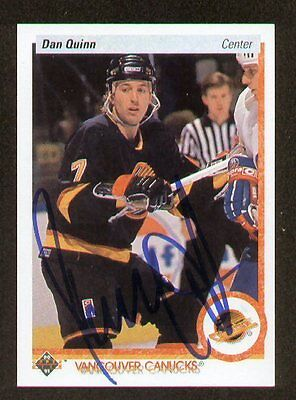 Dan Quinn Signed Autograph 1990 91 Upper Deck Card