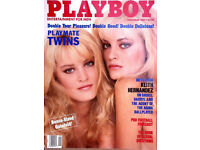 Vintage collectable Playboy magazines (1962-1989)
