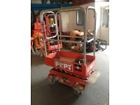 Pop Up mini Scissor Lift. 1.8m Platform Height, Perfect Working Order and Excellent Condition.