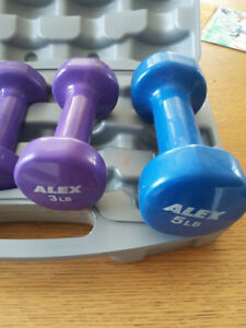 3lb and 5lb dumbell weight set