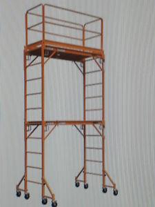 Échaffaudage mobile 12 pi de haut  capacité de 1000 Lbs
