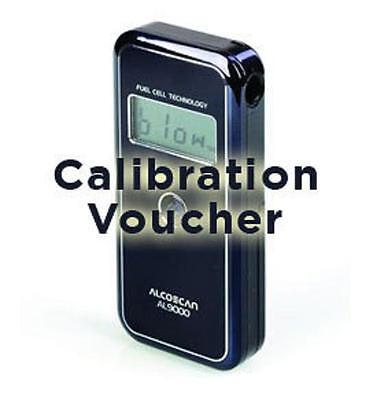 Calibration Voucher for Alcoscan Alcomate AL9000 Fuel Cell Breathalyzer