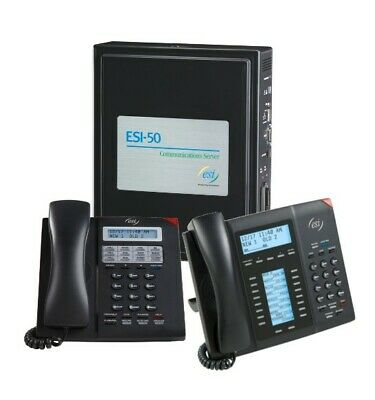 Esi-50 Office Telephone System W Communication Server 23 Handsets Gently Used