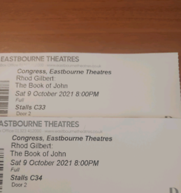 2 x Tickets for Rhod Gilbert 'The book of John'