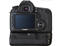 Canon 5D Mark III body with battery grip and optional 100mm Macro lens 2.8 USM IS