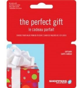 WANTED: Shoppers Drug Mart gift cards/store credit