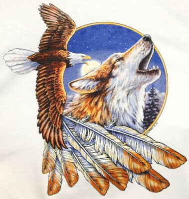 Beautiful Eagle and Wolf Cross Stitch Pattern 14 ct Aida on CD for sale  Gardnerville