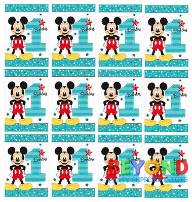 Mickey Mouse 1st Birthday Loot Bags Favors & Party Bag Fillers Candy Treats  - Mickey Mouse Party Bags
