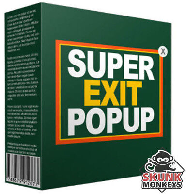 Super Website Exit Popup Software With Master Resell Rights Make Money Online