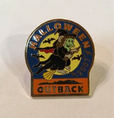 Outback Steakhouse Restaurant Halloween 2007 Witch Pin Pinback](Outback Halloween)