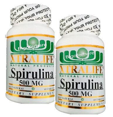 # 1 BEST SPIRULINA 500mg 120 TABLETS 100% NATURAL PROTEIN SOURCE SUPPLEMENT