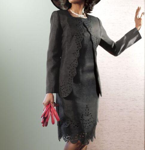 size 6 Keisha Jacket Dress black by Ashro new