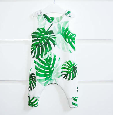 Toddler Infant Baby Girl Boy Banana Leaves Romper Jumpsuit Outfits White Clothes - Banana Outfits