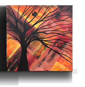 Abstract Bird Painting Modern wall Decor Original Canvas Art Oakville / Halton Region Toronto (GTA) image 2