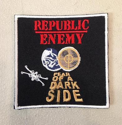REPUBLIC ENEMY EMBROIDERED IRON ON PATCH BY TOXIC TOAST RECORDS