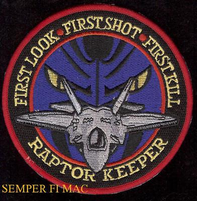 USAF PRATT /& WHITNEY F-22 RAPTOR F119 PATCH W//HOOK REPRO NEW A66
