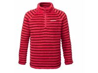 CRAGHOPPERS Girl's APPLEBY FLEECE HALF ZIP MAPLE RED, 11-12 years