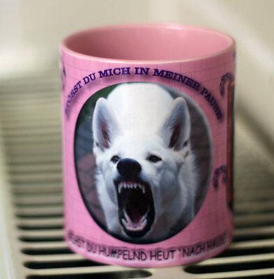 Weißer Schäferhund- Keramiktasse - Kaffeetasse - Hund - Dog-Funtasse
