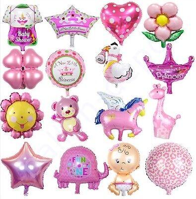 Ø45cm Folienballon IT'S A GIRL Mädchen Baby Shower Party Geburt Luftballon rosa