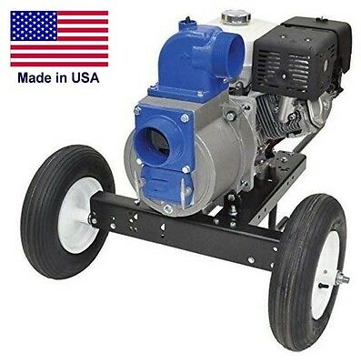 Trash Pump - 4 Ports - 32400 Gph - 11 Hp Hatz Diesel Dolly Kit - Industrial