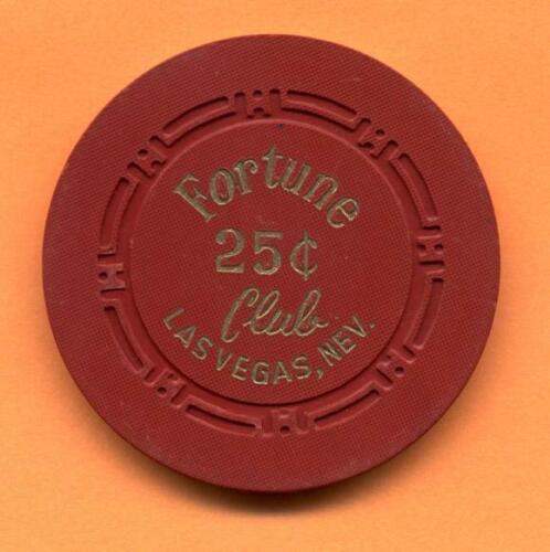 FORTUNE CLUB DOWNTOWN LAS VEGAS  25 CENT  1953 issue chip