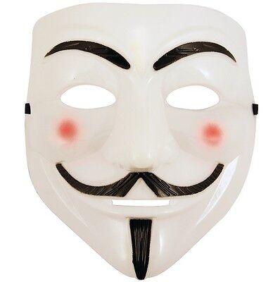 3 X Anonymous V For Vendetta Kostüm Gesichtsmaske - Anonymous V For Vendetta Kostüm