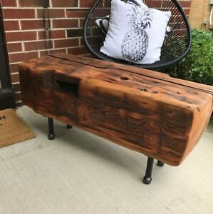 25% Off Sale - Large Reclaimed Beam Hall Bench 12X18X48 - $300